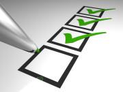 Häkchen, abhaken, Checklist